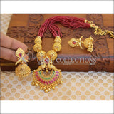 Elegant Gold Plated Peacock Necklace Set UC-NEW2511 - Necklace Set