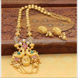Elegant Gold Plated Peacock Necklace Set UC-NEW942 - Necklace Set