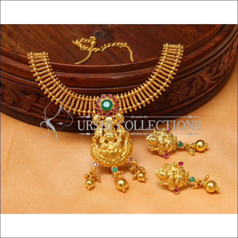 Elegant Gold Plated Temple Necklace Set UC-NEW1474 - Necklace Set