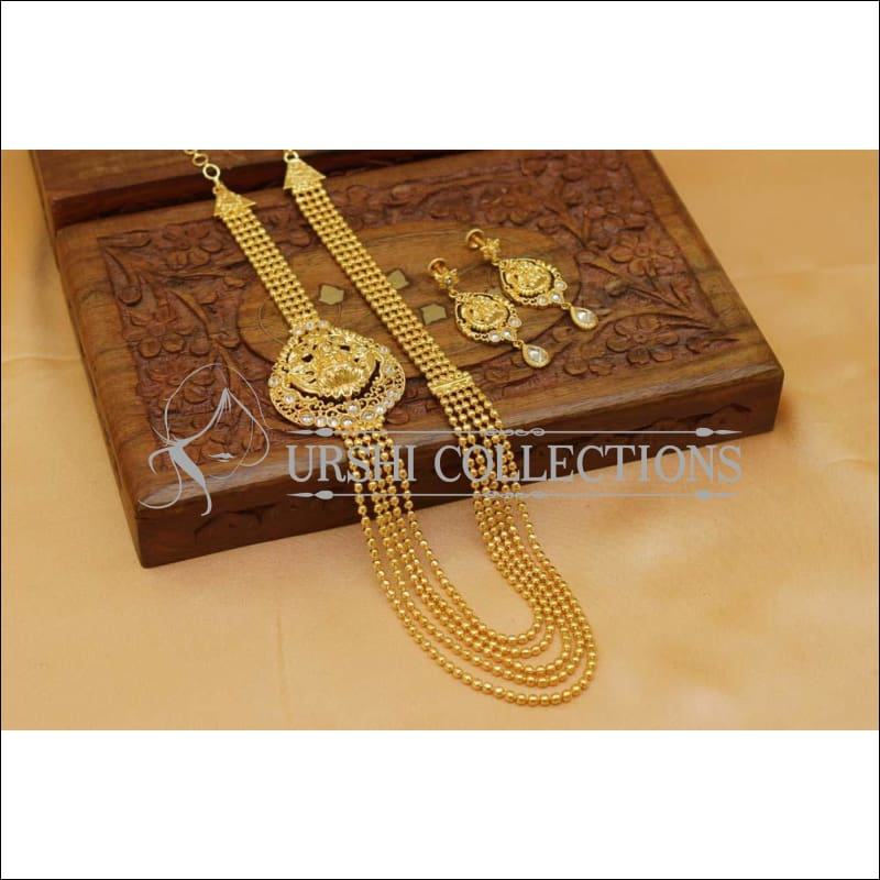 Elegant Gold Plated Temple Necklace Set UC-NEW520 - Necklace Set