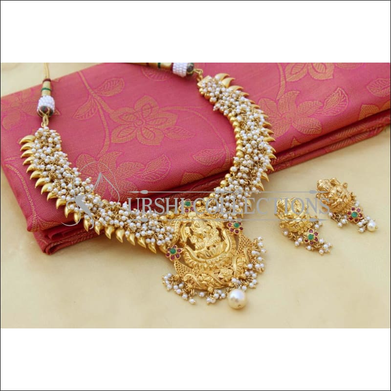 Elegant Gold Plated Temple Necklace Set UC-NEW812 - Necklace Set