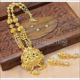 Elegant Gold Plated Temple Necklace Set UC-NEW867 - Necklace Set