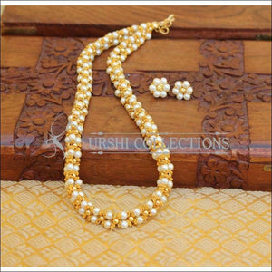 ELEGANT HANDMDE PEARL NECKLACE SET UTV680 - Necklace Set