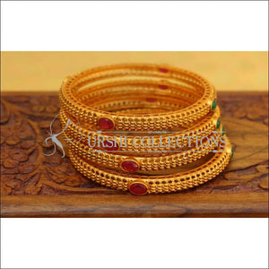 Elegant Matte Finish Bangle Set UC-NEW2763 - Bangles
