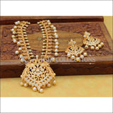 Elegant Matte Finish CZ Peacock Necklace Set UC-NEW2532 - Yellow Diamond - Necklace Set