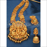 Elegant Matte Finish Ganesha Long Necklace Set UC-NEW252 - Multi - Necklace Set