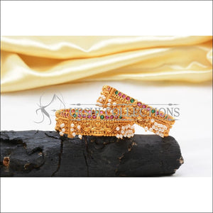 Elegant Matte Finish Lakshmi Bangle Set UC-NEW1053 - 2.4 - Bangles
