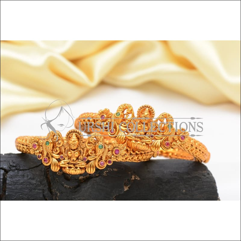 Elegant Matte Finish Lakshmi Bangle Set UC-NEW1058 - 2.4 - Bangles