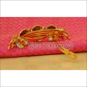 Elegant Matte Finish Lakshmi Hair Clip UC-NEW1540 - Hair Clips