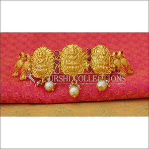 Elegant Matte Finish Lakshmi Hair Clip UC-NEW1540 - Red - Hair Clips