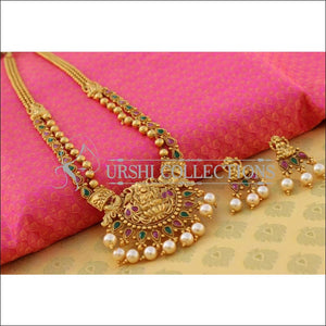 Elegant Matte Finish Lakshmi Necklace Set UC-NEW2556 - Multi - Necklace Set