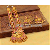 Elegant Matte Finish Lakshmi Necklace Set UC-NEW341 - Necklace Set