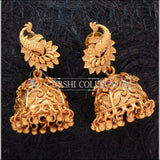 Elegant Matte Finish Peacock Earrings UC-NEW1795 - Multi - Earrings