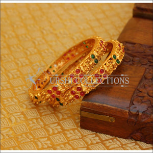 ELEGANT MATTE FINISH TEMPLE BANGLES SET UTV617 - 2.4 - Bangles