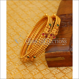 ELEGANT MATTE FINISH TEMPLE BANGLES SET UTV626 - 2.4 - Bangles