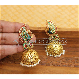 ELEGANT PEACOCK EARRINGS UTV576 - Earrings