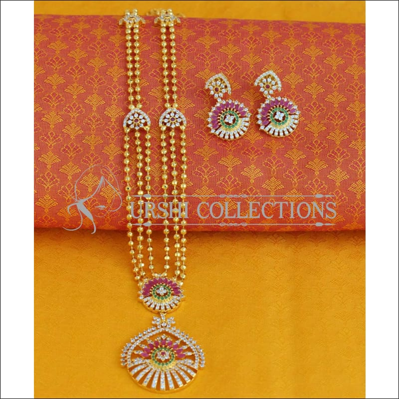 Elegant Three Layer Necklace Set UC-NEW570 - Necklace Set