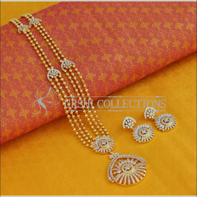 Elegant Three Layer Necklace Set UC-NEW570 - White - Necklace Set