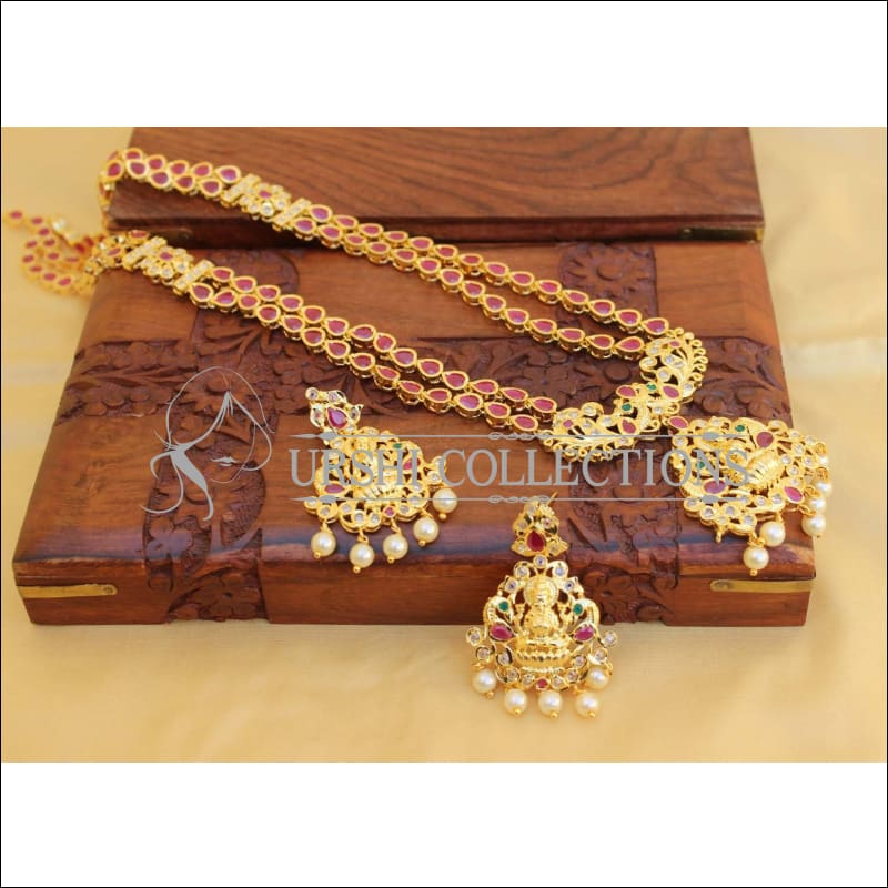 Elegant Traditional Lakshmi Necklace set UC-NEW79 - Multi - Necklace Set