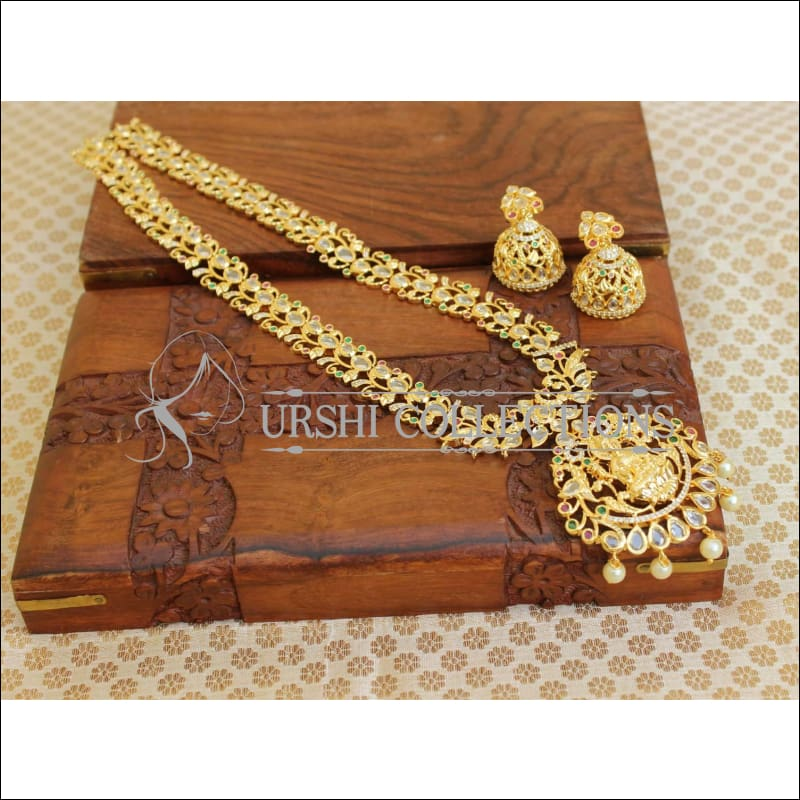 Elegant Traditional Lakshmi Necklace Set UC-NEW86 - Multi - Necklace Set