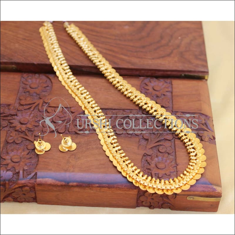 GOLD PLATED COIN NECKLACE SET UC-NEW3127 - Necklace Set