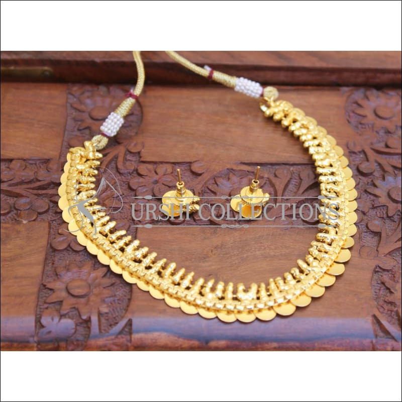 GOLD PLATED COIN NECKLACE SET UC-NEW3128 - Necklace Set
