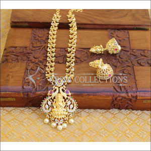 GOLD PLATED TEMPLE PEACOCK NECKLACE SET UTV196 - Necklace Set