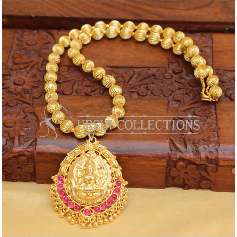 HANDMADE TEMPLE NECKLACE SET UC-NEW2879 - Necklace Set