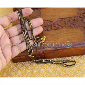 LOVELY BLACK BEADS CHAIN UC-NEW3321 - Mangalsutra