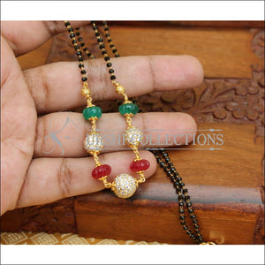 LOVELY CZ BOLL HAND MADE NECKLACE UTV51 - Mangalsutra