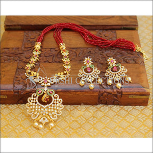 LOVELY CZ DESIGNER NECKLACE SET UTV90 - Necklace Set