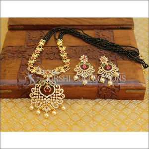 LOVELY CZ DESIGNER NECKLACE SET UTV91 - Necklace Set