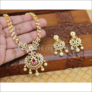 LOVELY CZ PEACOCK NECKLACE SET UTV114 - Necklace Set