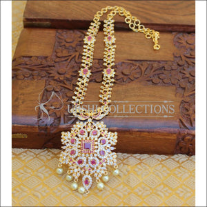 LOVELY CZ RUBY NECKLACE UTV209 - Necklace Set