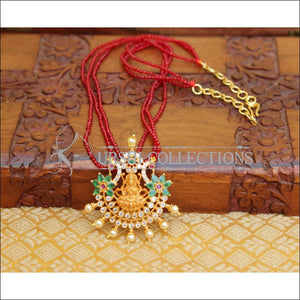 LOVELY DESIGNER TEMPLE PENDANT WITH SPINNER BEADS UTV127 - Pendant Set