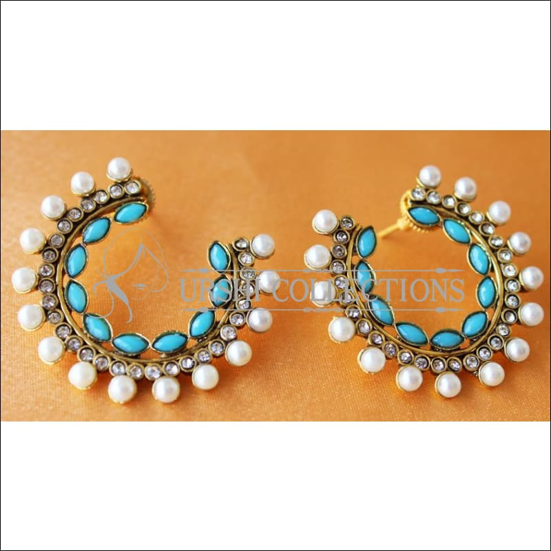 LOVELY EARRINGS UC-NEW3071 - BLUE - Earrings