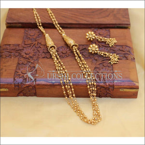 LOVELY GOLD PLATED MALA SET UC-NEW3119 - Necklace Set