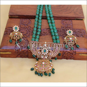 LOVELY GREEN BEADS NECKLACE SET UC-NEW3073 - Necklace Set