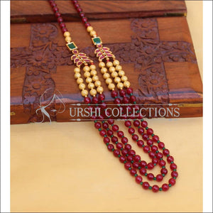 LOVELY MULTI BEADS NECKLACE SET UC-NEW3075. - Necklace Set