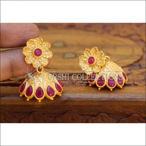 MATTE EARRINGS UC-NEW3064 - RED - Earrings