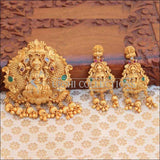 Matte Finish Traditional Temple Design Lakshmi Pendant Set - Multi - Pendant Set