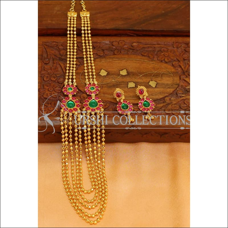 Traditional Five Layer Necklace Set UC-NEW298 - Necklace Set