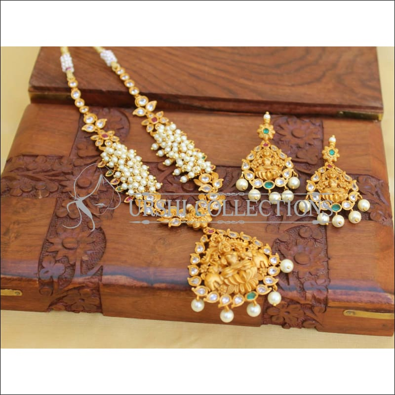 Traditional Matte Finish Lakshmi Necklace Set UC-NEW193 - Necklace Set