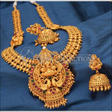 Traditional Matte Finish Long Lakshmi Necklace Set UC-NEW250 - Multi - Necklace Set