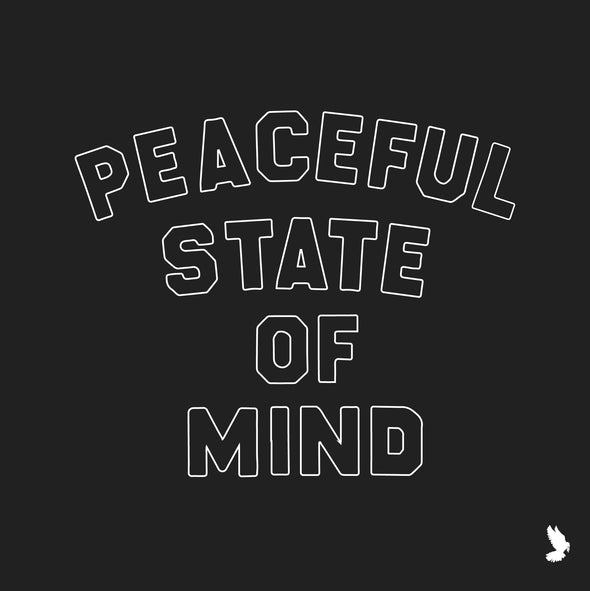 Peaceful State of Mind - Black Scoop Tee- Sold Out