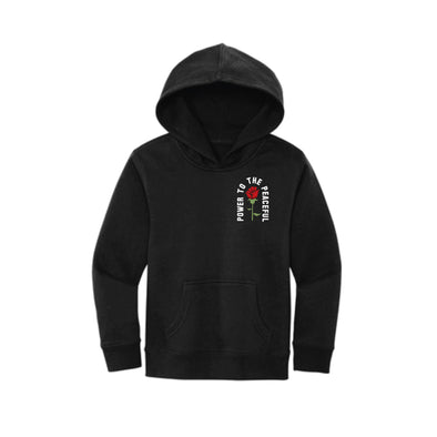 Power to the Peaceful  -  Embroidered Youth Hoodie