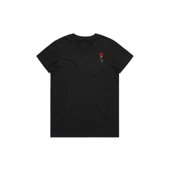 Resilience Rose - Embroidered Women's Tee
