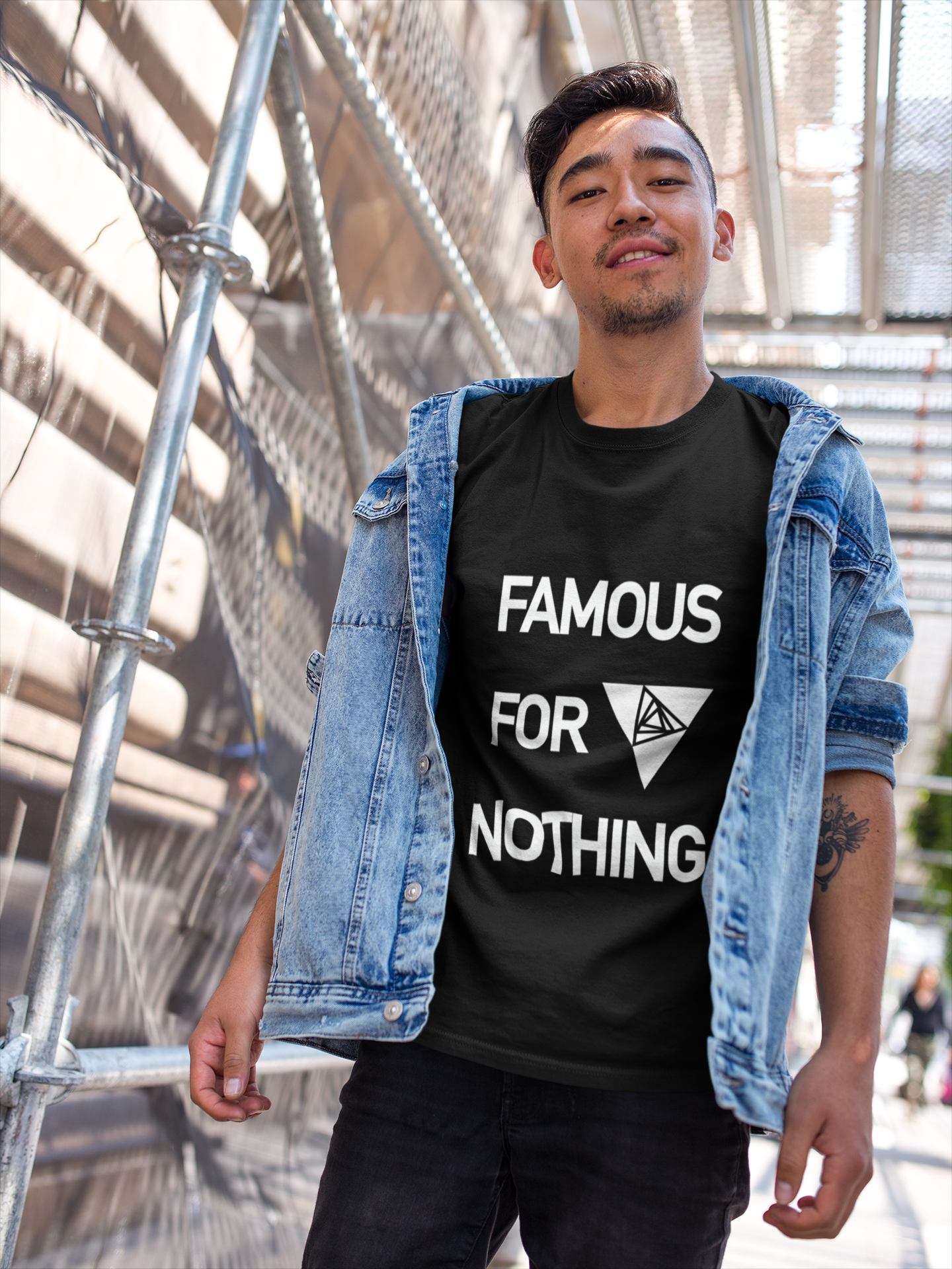 Famous For Nothing Sueded Unisex Tee