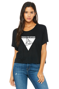 Famous For Nothing Logo Flowy Boxy Tee