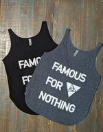 Famous For Nothing Relaxed Jersey Tank